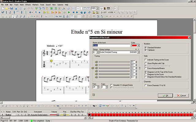 Скриншот программы Guitar Pro 5