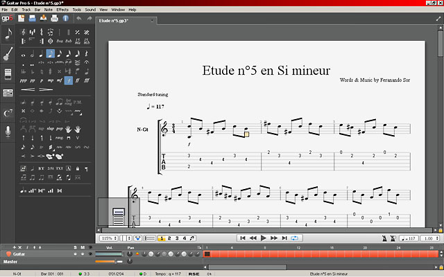 Скриншот программы Guitar Pro 6