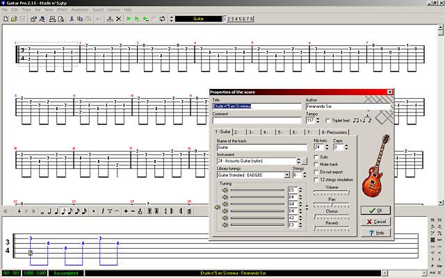 Скриншот программы Guitar Pro 2.15